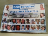 Cycle India 2014 visit to HEAL Paradise Village