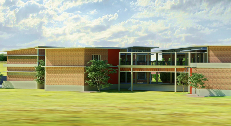 An artist's impression of the new health centre at Paradise Village, part of the Phase II construction