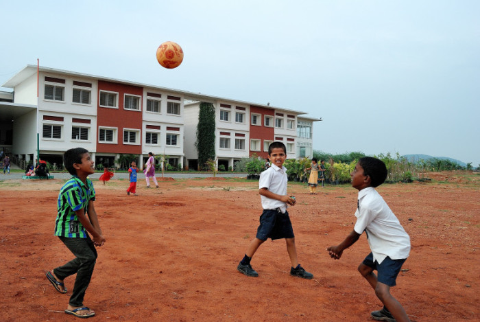 Children playing at HEAL Paradise Village copy