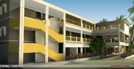 An artist's impression of how the completed Hans Foundation Dorm for Boys will look