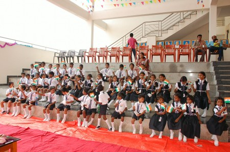 The children were excited to welcome their guests from HEAL India
