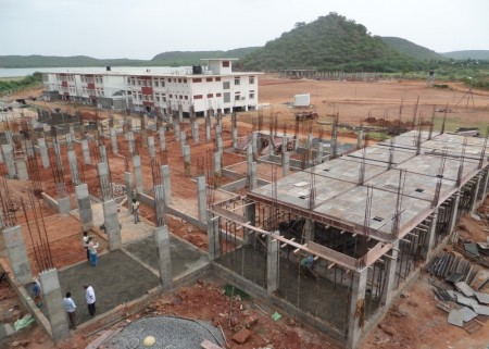 Work progressing on the Rajeswari Dorm for Girls