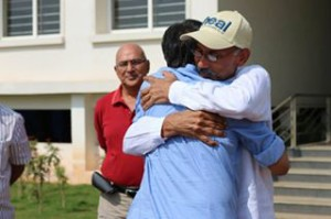 A welcoming hug from HEAL founder Dr Prasad