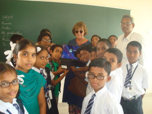 HEAL supporter Caroline George meets the children