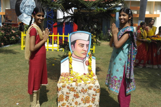 Paradise School classmates Sai Keerthi and Angel Vennela at Balotsav 2015